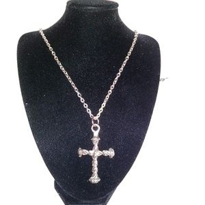 Vintage Sarah Coventry Cross Necklace